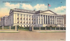 UNITED.STATES.TREASURY.VINTAGE.POSTCARD
