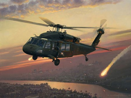 UH-60 BLACK HAWK HELICOPTER OVER IRAQ