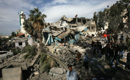 THIS HAMAS POLICE STATION IN GAZA WAS DESTROYED BY THE ISRAELI MILITARY